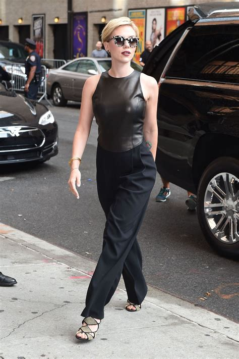 Scarlett Johansson Style - 'The Late Show with Stephen