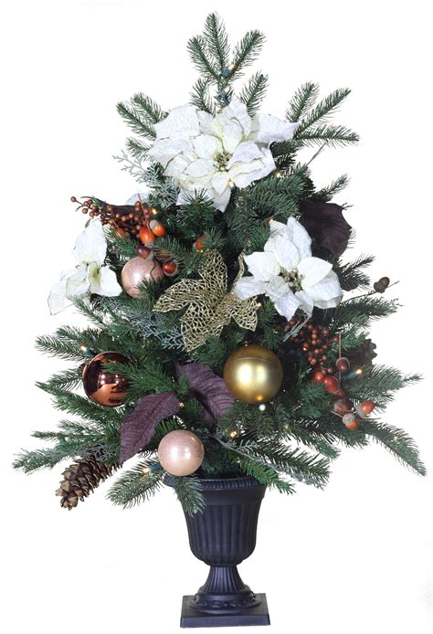 Predecorated Trees - 3' Vermont White Battery Operated