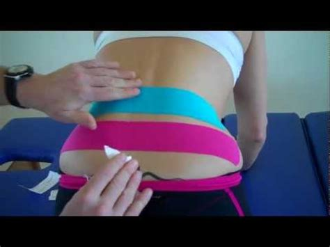 How to treat Lower back pain using Kinesiology Taping