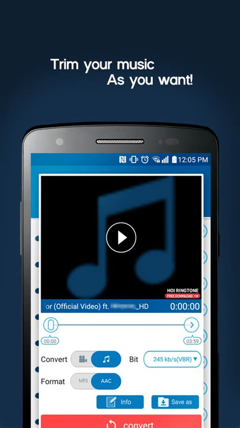 MP3 Video Converter for Android - Free download and