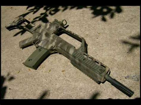 Custom Painted Tiger Striped Classic Army CA36K / G36K