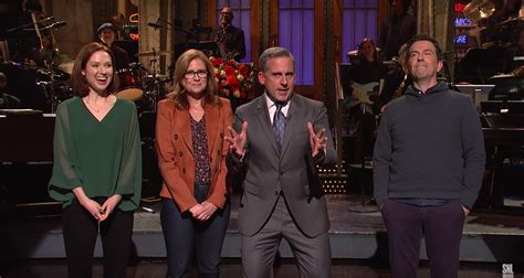 Steve Carell Gets Ambushed by The Office Co-Stars in SNL