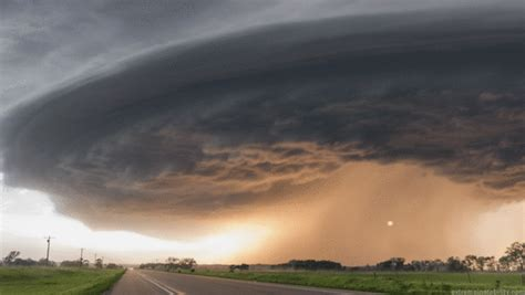 Ominous Supercell Thunderstorms Animated from a Single