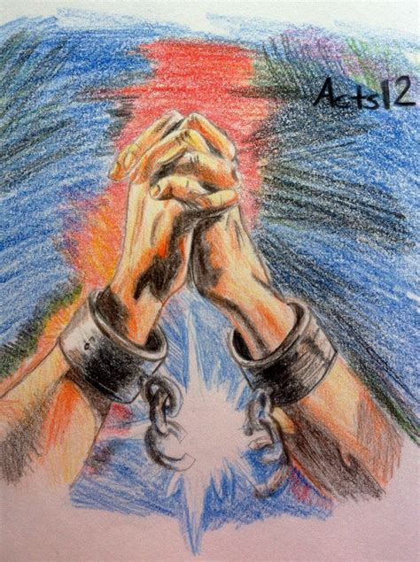 Broken chains! a colored pencil drawing I did from Acts 12
