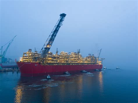 The Shell Prelude facility has sailed away to Australia