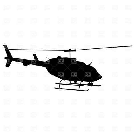 Helicopter silhouette Vector Image – Vector Artwork of