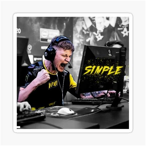 S1mple Stickers | Redbubble