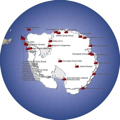 Major research stations in Antarctica   GRID-Arendal